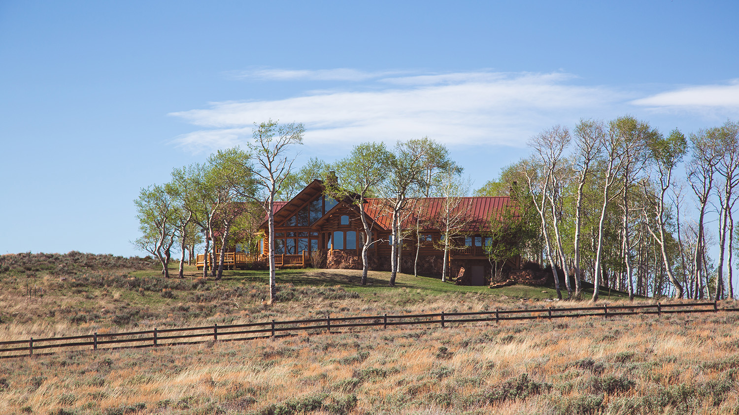 Ranch house at Blue Creek Mesa Ranch